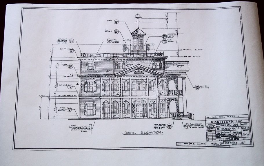 Disneyana page 10 for Haunted mansion blueprints