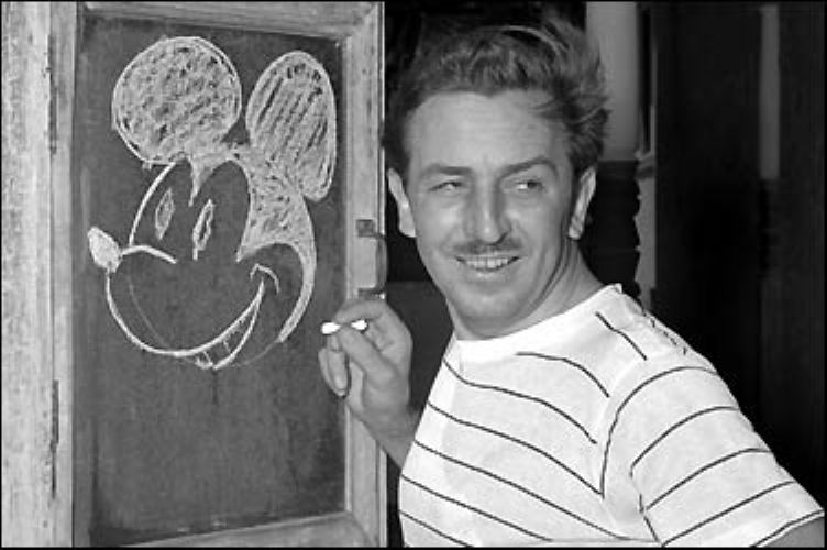 Rare Mickey Mouse Drawing by Walt Disney