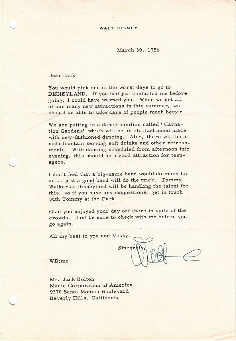 Disneyland letter great disneyland content is highly desirable and relatively rare in disney letters spiritdancerdesigns Image collections